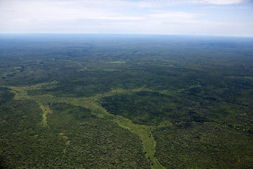 7 may 2010 - Western Equatoria, South Sudan -Western Equatoria State Aerial view.Photo credit: Benedicte Desrus