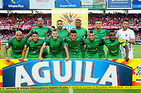 CALI - COLOMBIA - 18 -  02  -  2018: Los jugadores de Patriotas F. C., posan para una foto, durante partido entre America de Cali y Patriotas F. C., de la fecha 4 por la Liga Aguila I 2018 jugado en el estadio Pascual Guerrero de la ciudad de Cali. / The players of Patriotas F. C., pose for a photo, during a match between America de Cali and Patriotas F. C., of the 4th date for the Liga Aguila I 2018 at the Pascual Guerrero stadium in Cali city. Photo: VizzorImage / Nelson Rios / Cont.