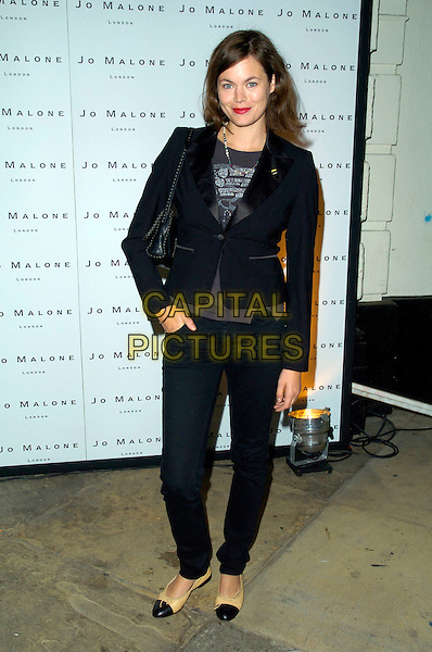 JASMINE GUINNESS.The Jo Malone Fragrance Launch Party held at 1 (One) The Piazza, Covent Garden, London, England. .September 12th, 2007.full length black jeans jacket beige pumps hand in pocket .CAP/CAN.©Can Nguyen/Capital Pictures