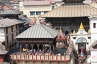 Pashupatinath Temple, Nepal's Most Important Hindu Temple.  A Pati, or Open-air Rest House, is in Front.