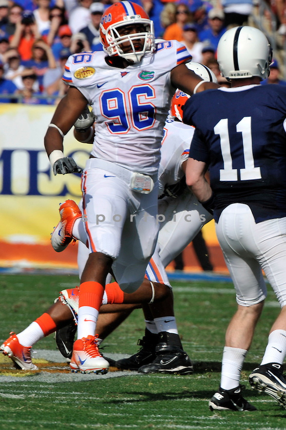 Jan 1 2011; Florida DL William Green (96) during  game against Penn State. Florida won the 25th anniversary of the Outback Bowl 37-24 at  Raymond James Stadium Tampa, FL. Mandatory Credit: Tomasso DeRosa