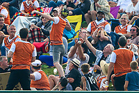 A six in the crowd.  Black Caps v England, second international cricket ODI, Bay Oval, Tauranga, New Zealand. Wednesday, 28 February, 2018. Copyright photo: John Cowpland / www.photosport.nz