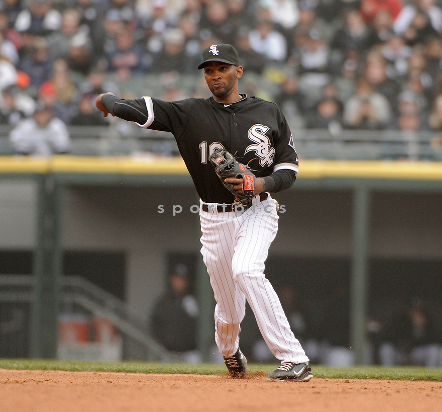 ALEXEI RAMIREZ, of the Chicago White Sox , in actions during the White Sox game against the Tampa Bay Rays at US Cellular Field on April 7, 2011.  The Chicago White Sox won the game beating the Tampa Bay Rays 5-1.