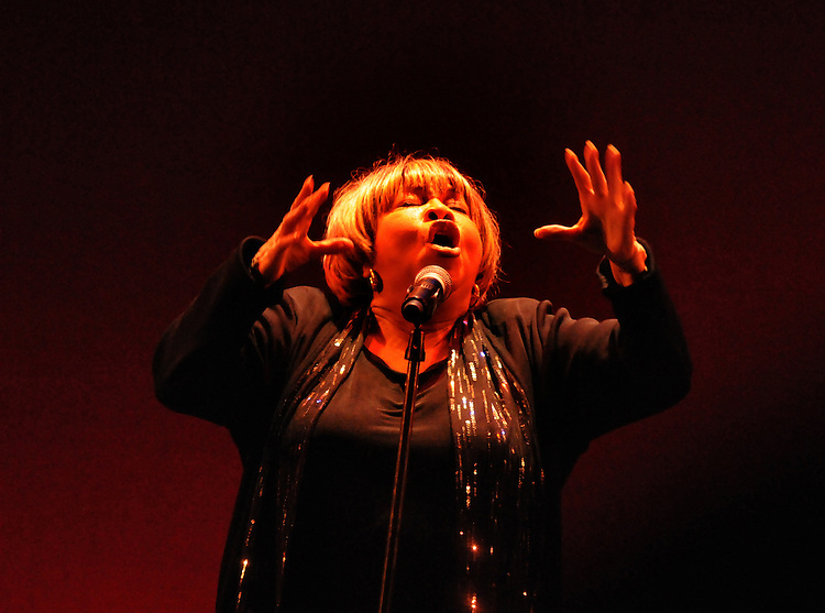 Mavis Staples, performing at the Bardavon Opera House, in Poughkeepsie, NY on Friday, January 20, 2012. Photo by Jim Peppler. Copyright Jim Peppler/2012.