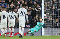 Hugo Lloris of Tottenham Hotspur saves from point blank range during Tottenham Hotspur vs RB Leipzig, UEFA Champions League Football at Tottenham Hotspur Stadium on 19th February 2020