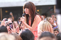 Carly Rae Jepsen performs on NBC's Today Show Toyota Concert Series at Rockefeller Center in New York City. August 23, 2012. © RW/MediaPunch Inc.