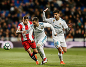 18th March 2018, Santiago Bernabeu, Madrid, Spain; La Liga football, Real Madrid versus Girona; Jose I Fernandez, NACHO (Real Madrid) drives forward on the ball