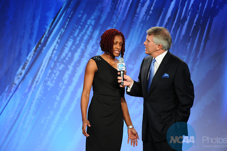 13 JAN 2012: The Honors Celebrations takes place during the 2012 NCAA Convention held at the JW Marriott and Indianapolis Convention Center in Indianapolis, IN.  Joshua Duplechian/NCAA Photos.Pictured: Jack Ford,Danielle Robinson
