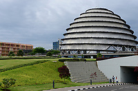 RWANDA, Kigali, Convention Center  / RUANDA, Kigali, Convention Center, Kongresszentrum links Radisson Blu Hotel