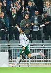 Stockholm 2014-09-21 Fotboll Superettan Hammarby IF - Syrianska FC :  <br /> Hammarbys Pablo Pinones-Arce jublar framf&ouml;r Hammarbys supportrar efter sitt 1-0 m&aring;l <br /> (Foto: Kenta J&ouml;nsson) Nyckelord:  Superettan Tele2 Arena Hammarby HIF Bajen Syrianska FC SFC jubel gl&auml;dje lycka glad happy supporter fans publik supporters