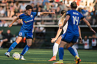 Seattle, Washington - Saturday, July 2nd, 2016: Seattle Reign FC midfielder Keelin Winters (11) during a regular season National Women's Soccer League (NWSL) match between the Seattle Reign FC and the Boston Breakers at Memorial Stadium. Seattle won 2-0.