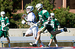 Los Angeles, CA 02/06/16 - Michael Hoffman (Loyola Marymount #28)in action during the Cal Poly SLO Mustangs vs Loyola Marymount Lions MCLA Men's Lacrosse game.  Cal Poly defeated LMU 24-5