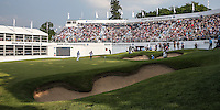 /DW/ finds the back bunker on the last during Round Three of the 2016 BMW PGA Championship over the West Course at Wentworth, Virginia Water, London. 28/05/2016. Picture: Golffile   David Lloyd. <br /> <br /> All photo usage must display a mandatory copyright credit to © Golffile   David Lloyd.