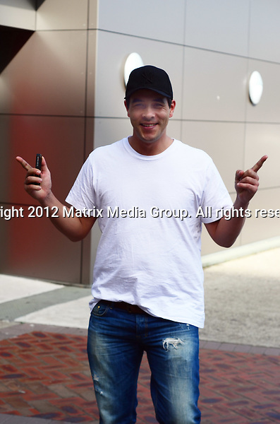 10 May 2012 Sydney, Australia..***EXCLUSIVE***..James Stewart overwhelmed with joy at the birth of his baby daughter 'Scout' born at 545am 10 May 2012.
