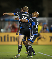 Santa Clara, Ca - Saturday, 27, 2013: The San Jose Earthquakes defeated the Portland Timbers 2-1 at Buck Shaw Stadium.