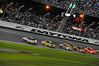 Greg Biffle (#16), Marcos Ambrose (#9), Kyle Busch (#18), Clint Bowyer (#15) and Joey Logano (#20).