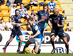 St Johnstone v Ross County…12.05.18…  McDiarmid Park    SPFL<br />Liam Fontaine brings down David McMillan<br />Picture by Graeme Hart. <br />Copyright Perthshire Picture Agency<br />Tel: 01738 623350  Mobile: 07990 594431