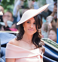 Meghan Markle, Duchess of Sussex <br /> Celebration marking The Queen's official birthday, Trooping The Colour, The Queen's official birthday, Buckingham Palace, London, England UK on June 09, 2018.<br /> CAP/JOR<br /> &copy;JOR/Capital Pictures