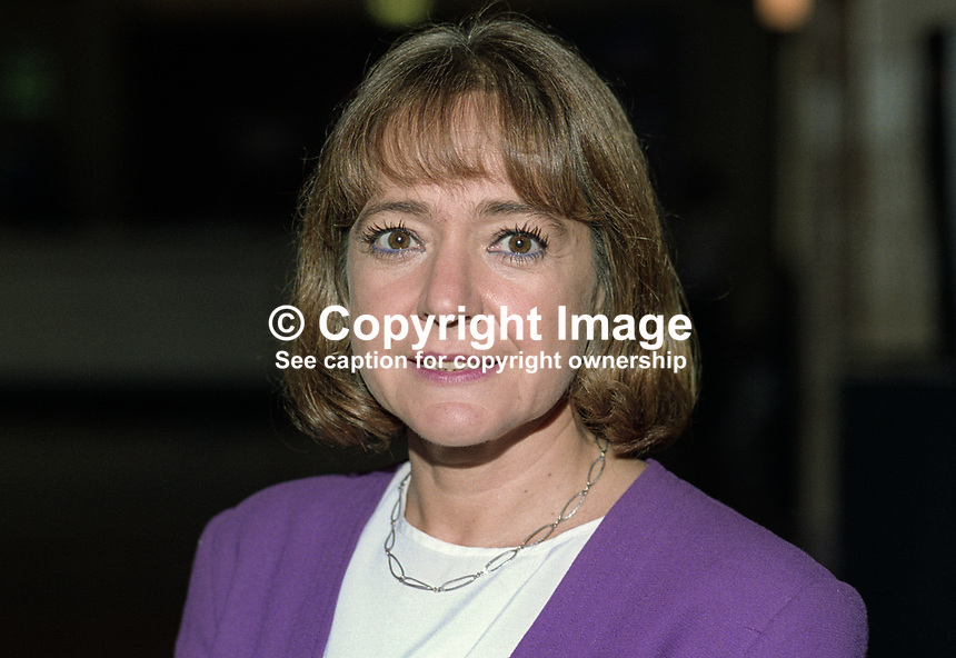Margaret Hodge, MP, Labour Party, UK, taken annual conference October 1992. 19921024MH1..Copyright Image from Victor Patterson, 54 Dorchester Park, Belfast, UK, BT9 6RJ..Tel: +44 28 9066 1296.Mob: +44 7802 353836.Voicemail +44 20 8816 7153.Skype: victorpattersonbelfast.Email: victorpatterson@me.com.Email: victorpatterson@ireland.com (back-up)..IMPORTANT: If you wish to use this image or any other of my images please go to www.victorpatterson.com and click on the Terms & Conditions. Then contact me by email or phone with the reference number(s) of the image(s) concerned.