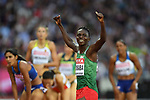 Francine NIYONSABA (BDI) celebrates winning in the womens 800m semi-final. IAAF world athletics championships. London Olympic stadium. Queen Elizabeth Olympic park. Stratford. London. UK. 11/08/2017. ~ MANDATORY CREDIT Garry Bowden/SIPPA - NO UNAUTHORISED USE - +44 7837 394578