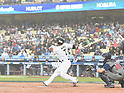Norichika Aoki (JPN),<br /> MARCH 21, 2017 - WBC :<br /> Norichika Aoki of Japan bats during the 2017 World Baseball Classic Semifinal game between United States 2-1 Japan at Dodger Stadium in Los Angeles, California, United States. (Photo by AFLO)