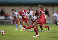 STANFORD, CA  – September 9, 2016: Stanford wins 4-1 over Minnesota at Cagan Stadium. Andi Sullivan scores her second goal of the game.