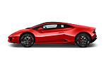 Car Driver side profile view of a 2017 Lamborghini Huracan 580 2 Door Coupe Side View