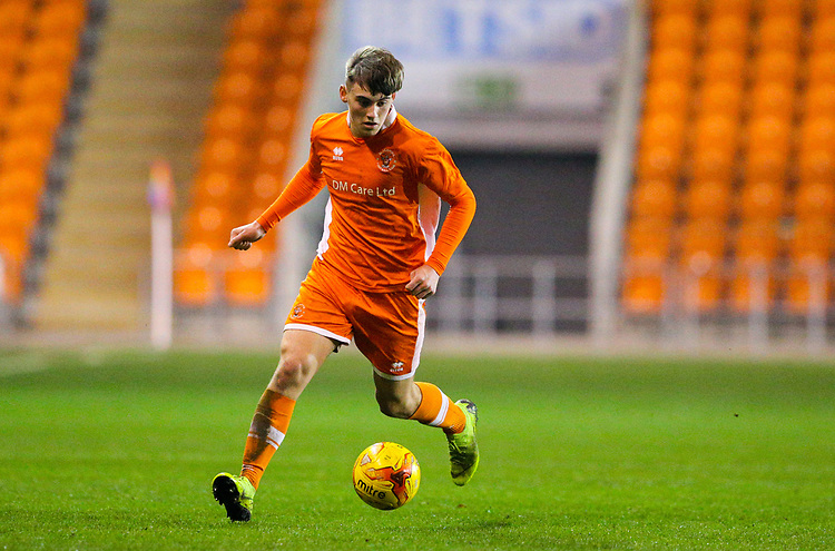 Blackpool's Sean Graham<br /> <br /> Photographer Alex Dodd/CameraSport<br /> <br /> The FA Youth Cup Third Round - Blackpool U18 v Derby County U18 - Tuesday 4th December 2018 - Bloomfield Road - Blackpool<br />  <br /> World Copyright © 2018 CameraSport. All rights reserved. 43 Linden Ave. Countesthorpe. Leicester. England. LE8 5PG - Tel: +44 (0) 116 277 4147 - admin@camerasport.com - www.camerasport.com