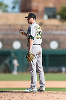 Mesa Solar Sox relief pitcher Sam Sheehan (29), of the Oakland Athletics organization, during an Arizona Fall League game against the Glendale Desert Dogs at Camelback Ranch on October 15, 2018 in Glendale, Arizona. Mesa defeated Glendale 8-0. (Zachary Lucy/Four Seam Images)