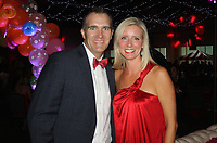 NWA Democrat-Gazette/CARIN SCHOPPMEYER Jason and Laura Landers help support the Children's Safety Center at the 10th annual Dream Big Charity Gala on July 22 at the Fayetteville Town Center.