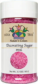 10257 Nature's Colors Pink Decorating Sugar, Small Jar 3.3 oz