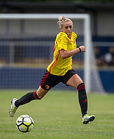 Charlotte Kerr of Watford Ladies during the pre season friendly match between Stevenage Ladies FC and Watford Ladies at The County Ground, Letchworth Garden City, England on 16 July 2017. Photo by Andy Rowland / PRiME Media Images.