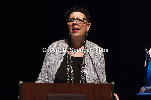The N&rsquo;DIGO held its 20th Anniversary Awards Gala Sunday evening at the Reva and David Logan Center for the Arts located at 915 E. 60th Street. This events helped to raise funds to send students to college.<br /> <br /> 0222, 0224 - President of the Chicago Teacher&rsquo;s Union, Karen Davis receives the N&rsquo;Education Award.<br /> <br /> Please 'Like' &quot;Spencer Bibbs Photography&quot; on Facebook.<br /> <br /> All rights to this photo are owned by Spencer Bibbs of Spencer Bibbs Photography and may only be used in any way shape or form, whole or in part with written permission by the owner of the photo, Spencer Bibbs.<br /> <br /> For all of your photography needs, please contact Spencer Bibbs at 773-895-4744. I can also be reached in the following ways:<br /> <br /> Website &ndash; www.spbdigitalconcepts.photoshelter.com<br /> <br /> Text - Text &ldquo;Spencer Bibbs&rdquo; to 72727<br /> <br /> Email &ndash; spencerbibbsphotography@yahoo.com
