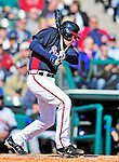 3 March 2010: Atlanta Braves' infielder Freddie Freeman breaks his bat during a Grapefruit League game against the New York Mets at Champion Stadium in the ESPN Wide World of Sports Complex in Orlando, Florida. The Braves defeated the Mets 9-5 in the Spring Training matchup. Mandatory Credit: Ed Wolfstein Photo