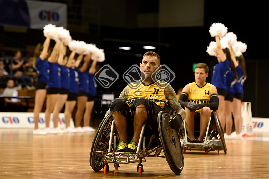 Opening Ceremony - Ryan Scott (Aus)<br /> Australian Wheelchair Rugby Team<br /> 2018 IWRF WheelChair Rugby <br /> World Championship / Day 1<br /> Sydney  NSW Australia<br /> Sunday 5th August 2018<br /> © Sport the library / Jeff Crow / APC