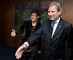 121112: EU-Commissioner Johannes HAHN receives Annegret KRAMP-KARRENBAUER, M-P of Saarland