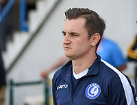 20190422 - Denderleeuw , BELGIUM : Gent's head coach Dave Mattheus pictured during the final of Belgian cup 2019 , a soccer women game between AA Gent Ladies and Standard Femina de Liege  , in the  Van Roystadion in Denderleeuw , Monday 22 th April 2019 . PHOTO SPORTPIX.BE | DAVID CATRY