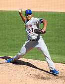New York Mets relief pitcher Jeurys Familia (27) works in the eighth inning against the Washington Nationals at Nationals Park in Washington, D.C. on Thursday, March 28, 2018.  The Mets won the game 2-0.<br /> Credit: Ron Sachs / CNP<br /> (RESTRICTION: NO New York or New Jersey Newspapers or newspapers within a 75 mile radius of New York City)