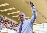 Burnley manager Sean Dyche salutes the fans after the match<br /> <br /> Photographer Alex Dodd/CameraSport<br /> <br /> The Premier League - Burnley v Bournemouth - Sunday 13th May 2018 - Turf Moor - Burnley<br /> <br /> World Copyright &copy; 2018 CameraSport. All rights reserved. 43 Linden Ave. Countesthorpe. Leicester. England. LE8 5PG - Tel: +44 (0) 116 277 4147 - admin@camerasport.com - www.camerasport.com