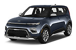 2020 KIA Soul  X-Line 5 Door Hatchback angular front stock photos of front three quarter view