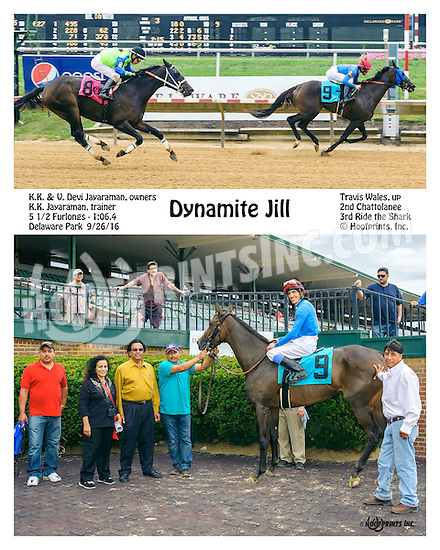 Dynamite Jill winning at Delaware Park on 9/26/16
