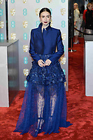 LONDON, UK - FEBRUARY 10: Lily Collins at the 72nd British Academy Film Awards held at Albert Hall on February 10, 2019 in London, United Kingdom. Photo: imageSPACE/MediaPunch<br /> CAP/MPI/IS<br /> ©IS/MPI/Capital Pictures