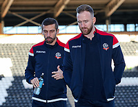 Bolton Wanderers' Gary O'Neil and Ben Alnwick pictured before the match<br /> <br /> Photographer Andrew Kearns/CameraSport<br /> <br /> The EFL Sky Bet Championship - Hull City v Bolton Wanderers - Tuesday 1st January 2019 - KC Stadium - Hull<br /> <br /> World Copyright © 2019 CameraSport. All rights reserved. 43 Linden Ave. Countesthorpe. Leicester. England. LE8 5PG - Tel: +44 (0) 116 277 4147 - admin@camerasport.com - www.camerasport.com