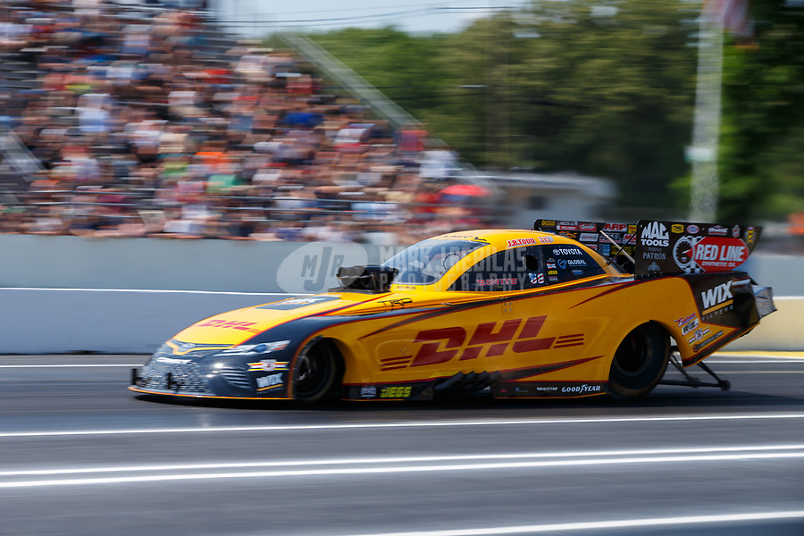 Jun 10, 2017; Englishtown , NJ, USA; NHRA funny car driver J.R. Todd during qualifying for the Summernationals at Old Bridge Township Raceway Park. Mandatory Credit: Mark J. Rebilas-USA TODAY Sports