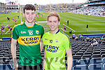 Paul McMahon and Eoin O'Carroll both from Tralee, pictured at the All Ireland Minor Football Final Kerry v Galway, in Croke Park on Sunday last.