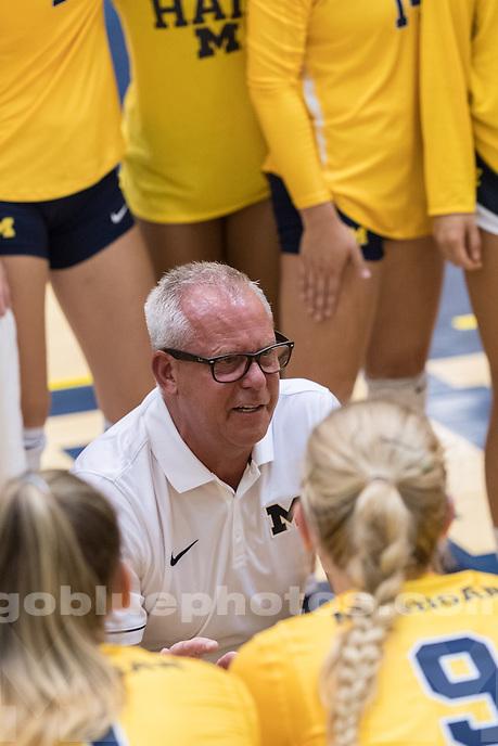 8/27/16 UM Women's Volleyball defeats University of Northern Iowa.