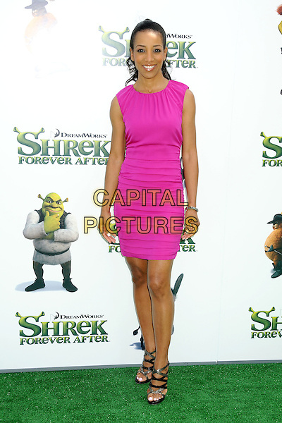 "SHAUN ROBINSON.""Shrek Forever After"" Los Angeles Premiere held at the Gibson Amphitheatre, Universal City, California, USA..May 16th, 2010.full length pink sleeveless dress black strappy sandals .CAP/ADM/BP.©Byron Purvis/AdMedia/Capital Pictures."