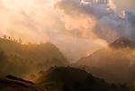 Sunset fog as seen from Mount Rinjani, Lombok, Indonesia