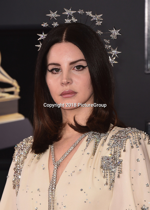 NEW YORK - JANUARY 28:  Lana Del Rey at the 60th Annual Grammy Awards at Madison Square Garden on January 28, 2018 in New York City. (Photo by Scott Kirkland/PictureGroup)