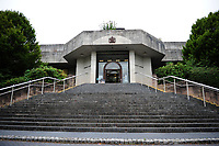 Pictured: A general view of Newport crown court. Tuesday 21 August 2018<br /> Re: Austin Ross, 23, admitted setting fire to a masonic hall and school in Newport and daubing graffiti at a number of locations in the city.
